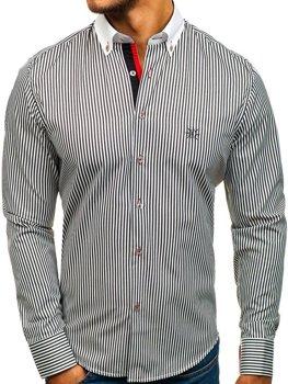 Koszula męska BOLF 5759 biało-czarna