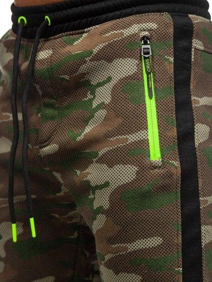 Spodnie męskie dresowe joggery moro multikolor Denley 3783C