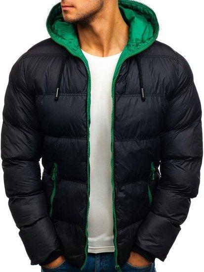 Kurtka męska zimowa sportowa czarna Denley 8851