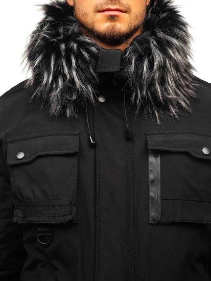 Kurtka męska zimowa czarna Denley 201808
