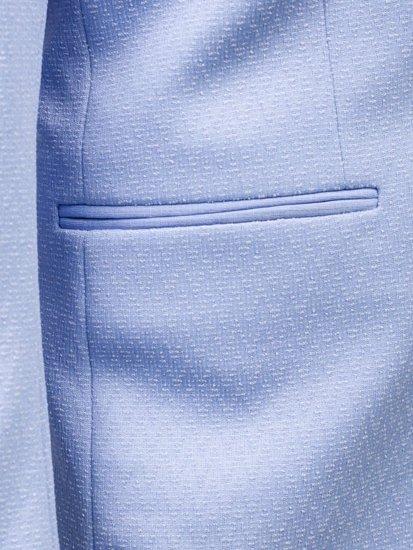 Marynarka męska elegancka błękitna Denley 261