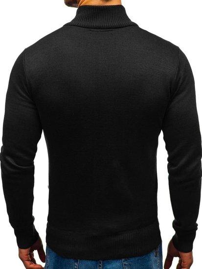 Sweter męski rozpinany czarny Denley BM6077