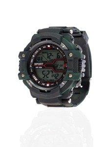 Zegarek męski na rękę moro czarno-ciemnozielony Denley 8338