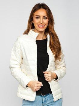 Beżowa pikowana kurtka damska przejściowa Denley 1141