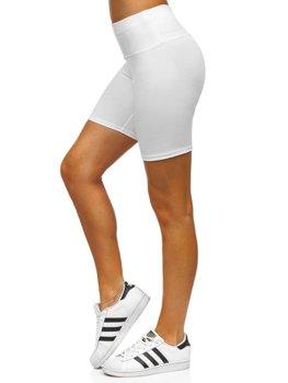 Białe krótkie legginsy damskie Denley 54548