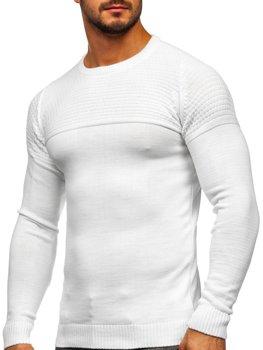 Biały sweter męski Denley 4623