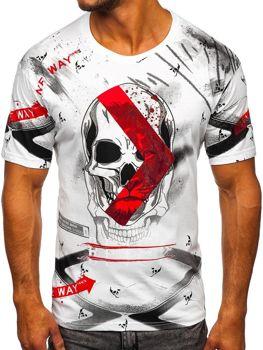 Biały t-shirt męski z nadrukiem Bolf 142177