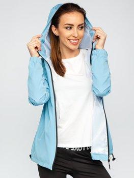 Błękitna kurtka damska przejściowa sportowa Denley HH036