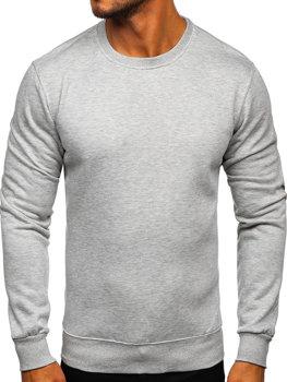 Bluza męska bez kaptura szara Denley 2001