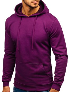Bluza męska z kapturem fioletowa Bolf 5361