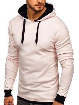 Bluza męska z kapturem jasnoróżowa Bolf 145380