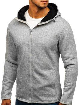 Bluza męska z kapturem szara Denley 207702