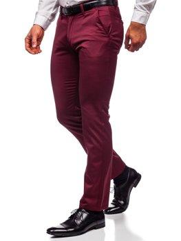 Bordowe chinosy spodnie męskie Denley KA1786P