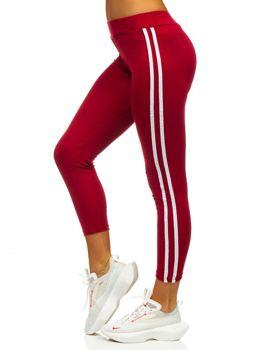 Bordowe legginsy damskie Denley YW01036