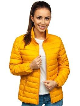 Camelowa pikowana kurtka damska przejściowa Denley 20311