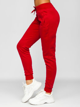 Ciemnobordowe spodnie dresowe damskie Denley CK-01