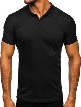 Czarna koszulka polo męska Denley GD02