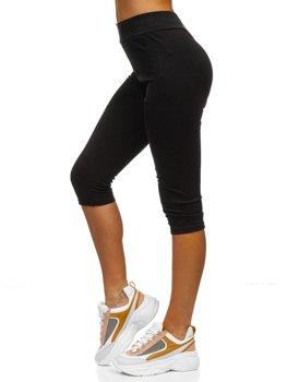 Czarne krótkie legginsy damskie Denley YW01045