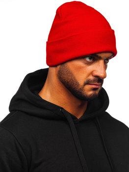 Czerwona czapka zimowa męska YW09004M