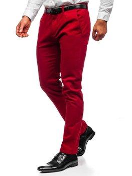 Czerwone spodnie chinosy męskie Denley 1143