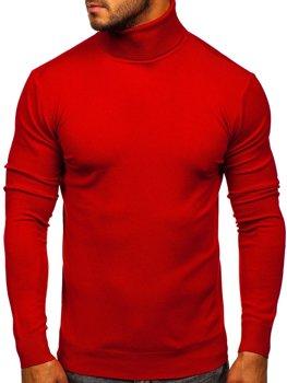 Czerwony golf sweter męski bez nadruku Denley YY02