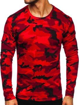 Czerwony longsleeve męski moro Denley 2088-1