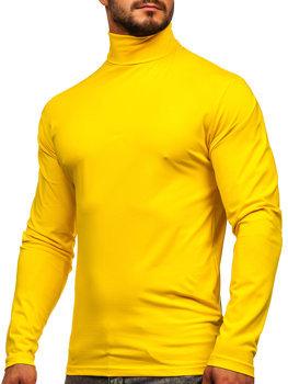 Golf męski bez nadruku żółty Bolf S6963