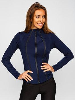 Granatowa bluza damska bez kaptura Denley HH020