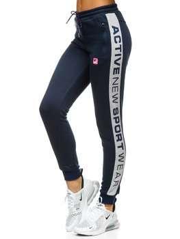 Granatowe spodnie dresowe damskie Denley KSW5005