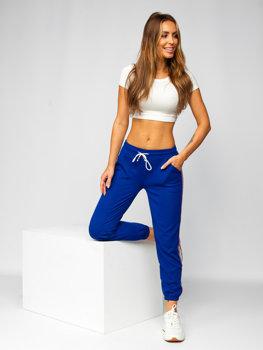 Kobaltowe spodnie dresowe damskie Denley YW01020