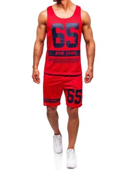 785fffb8bcc03 Komplet męski t-shirt + spodenki Denley czerwony 100777