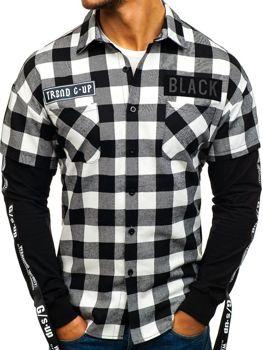 Koszula/bluza męska flanelowa 2w1 czarna Denley 7460