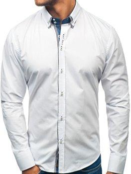 Koszula męska z długim rękawem biała Bolf 2774