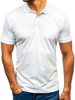 Koszulka polo męska biała Bolf 171221