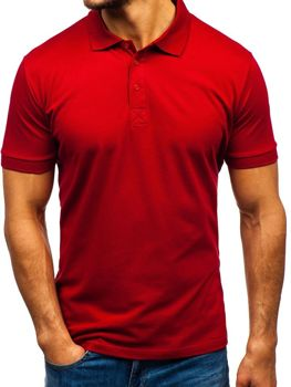 Koszulka polo męska bordowa Bolf 171221
