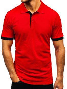 Koszulka polo męska czerwona Bolf 171222