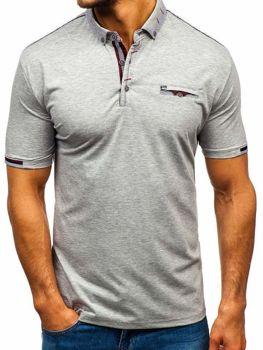 Koszulka polo męska szara Denley 192034