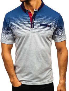 Koszulka polo męska szara Denley 6599