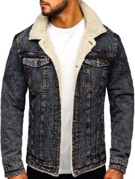 Kurtka jeansowa męska grafitowa Denley 1109