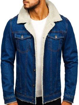 Kurtka jeansowa męska granatowa Denley 1109
