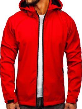 Kurtka męska przejściowa softshell czerwona Denley 56008