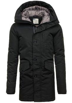 Kurtka męska zimowa czarna Denley 5012
