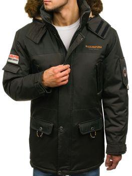 Kurtka męska zimowa khaki Denley 40014