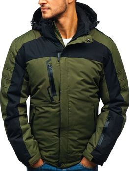 Kurtka męska zimowa narciarska zielona Denley HZ8112