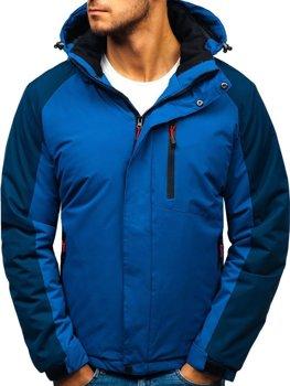 Kurtka męska zimowa niebieska Denley HZ8102