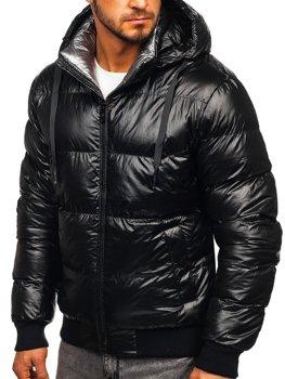 Kurtka męska zimowa pikowana czarna Denley 92556