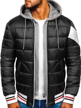 Kurtka męska zimowa sportowa czarna Denley JK395