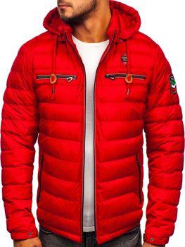 Kurtka męska zimowa sportowa czerwona Denley 50A172