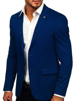 Niebieska elegancka marynarka męska Denley C191060