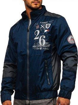 Niebieska kurtka męska przejściowa Denley 742